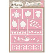 Autumn Delight Stickable Stencil - Bo Bunny