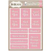 Simply Sentiments Stickable Stencil - Bo Bunny