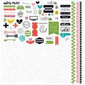 "Fundamentals - Illustrated Faith Christmas Stickers 12""X12"""