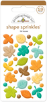 Flea Market Fall Leave Sprinkle Shapes - Doodlebug