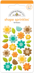 Flea Market Fall Flower Sprinkle Shapes - Doodlebug