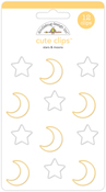 Stars & Moons Cute Clips - Doodlebug