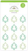 Christmas Trees Cute Clips - Doodlebug
