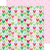 Holiday Hearts Paper - Here Comes Santa Claus - Doodlebug