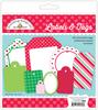 Here Comes Santa Claus Labels & Tags - Doodlebug