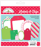Here Comes Santa Claus Labels & Tags - Doodlebug