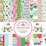 Here Comes Santa Claus 6 x 6 Paper Pad - Doodlebug
