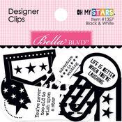 Black & White - Oh My Stars Designer Clips 16/Pkg
