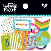 Colorful - Illustrated Faith Basics Designer Clips 16/Pkg