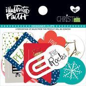 Illustrated Faith Christmas Designer Clips 16/Pkg