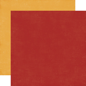 Red / Yellow Coordinating Solid Paper - I Love Family - Echo Park