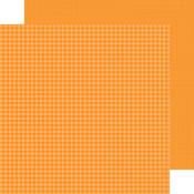 Mandarin Gingham-Linen Petite Prints Paper - Doodlebug