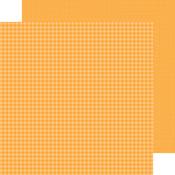 Tangerine Gingham-Linen Petite Prints Paper - Doodlebug