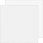 Lily White Gingham-Linen Petite Prints Paper - Doodlebug