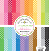Rainbow Gingham-Linen Petite Print Assortment Pack - Doodlebug