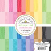 Dot Grid Daisy Stripe Petite Prints 6 x 6 Paper Pad - Doodlebug
