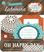 I Love Family Frames & Tags Ephemera - Echo Park