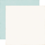 Cream / Blue Coordinating Solid Paper - I Love Christmas - Echo Park