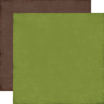 Green / Brown Coordinating Solid Paper - I Love Christmas - Echo Park