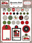 Christmas Delivery Decorative Brads - Carta Bella