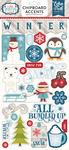 I Love Winter 6x13 Chipboard Stickers - Echo Park