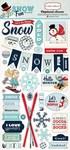 Snow Fun 6x13 Chipboard Stickers - Carta Bella