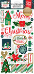 Deck The Halls 6x13 Chipboard Stickers - Echo Park