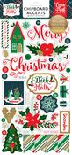 Deck The Halls 6x13 Chipboard Stickers - Echo Park