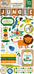 Jungle Safari 6x13 Chipboard Stickers - Echo Park