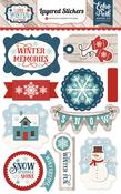 I Love Winter Layered Stickers - Echo Park