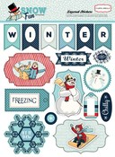 snow fun stickers