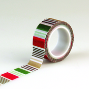 Holiday Stripe Decorative Tape - Deck The Halls - Echo Park