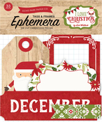 I Love Christmas Frames & Tags Ephemera - Echo Park
