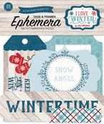 I Love Winter Frames & Tags Ephemera - Echo Park