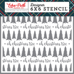 Oh Christmas Tree Stencil - Deck The Halls - Echo Park