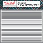 Festive Stripe Stencil - Deck The Halls - Echo Park