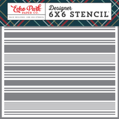 Festive Stripe Stencil - Deck The Halls - Echo Park