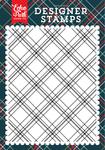 Christmas Plaid A2 #2 Background Stamp - Deck The Halls - Echo Park