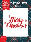 Merry Christmas Word Die Set - Deck The Halls - Echo Park