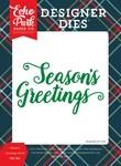 Season's Greetings Word Die Set - Deck The Halls - Echo Park