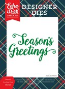 Season's Greetings Word Die Set - Deck The Halls - Echo Park