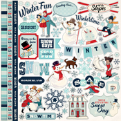 Snow Fun Sticker Sheet - Carta Bella