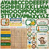 Jungle Safari Alpha Sticker Sheet - Echo Park