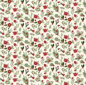 Festive Florals Paper - Christmas Delivery - Carta Bella