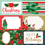 4x6 Journaling Cards Paper - Deck The Halls - Echo Park