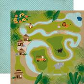 Jungle Map Paper - Jungle Safari - Echo Park