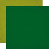 Drk Green / Lt Green Solid Paper - Jungle Safari - Echo Park