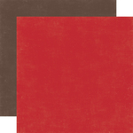 Red / Brown Coordinating Solid Paper - I Love Winter - Echo Park