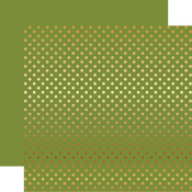 Olive Green Gold Foil Dot Paper - Echo Park