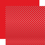 Holly Berry Silver Foil Dot Paper - Echo Park